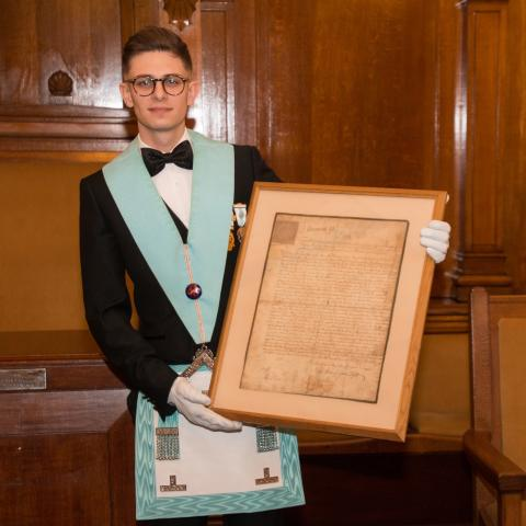 Our new Worshipful Master.